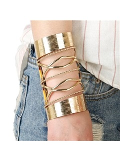 Alloy E Plating Hollow Out Women Bracelet
