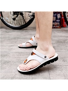 Contrast Color Slingback Men's Sandals