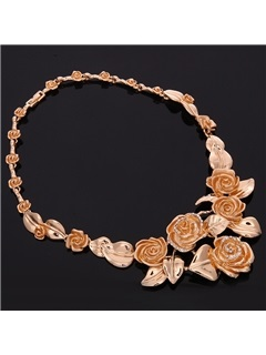 Party Alloy Flowers Women Jewelry Set