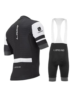 Polyester Color Block Cycle Jersey And Bib Shorts