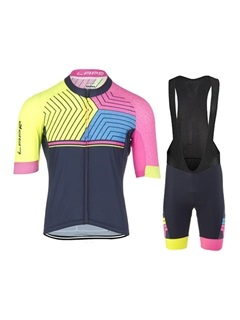 Breathable Front-Zip Men's Bike Jersey & Bib Shorts