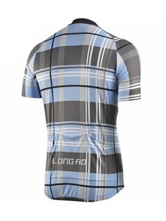 Plaid Breathable Bike Jersey & Bib Shorts