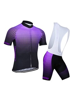 Multicolor Full-Zip Bike Jersey & Bib Shorts