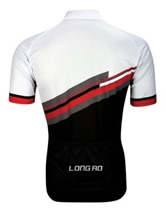 Polyester Rear Pockets Bike Jersey