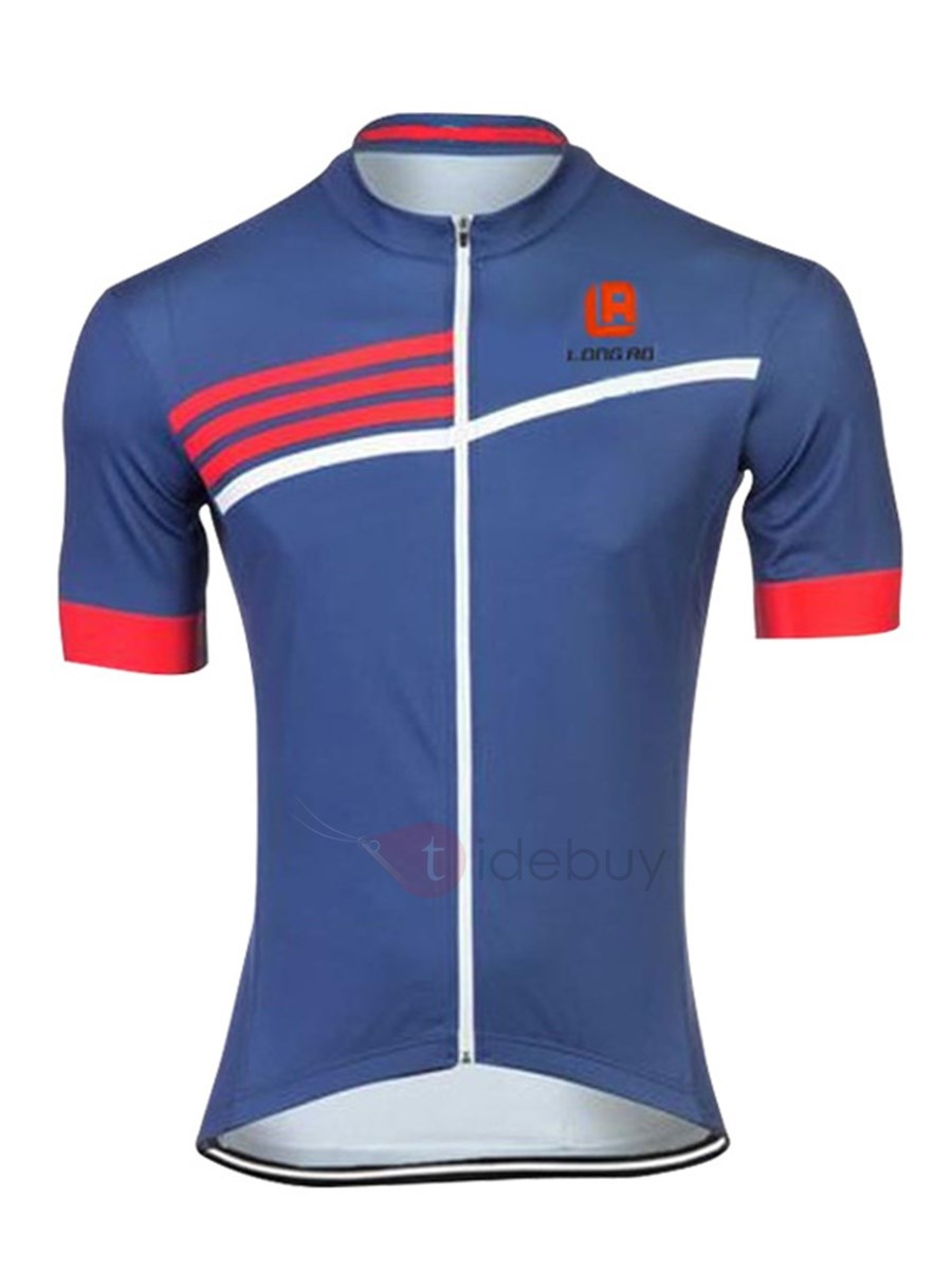 Polyester Short-Sleeve Men's Bike Jersey