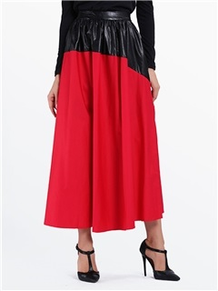ContrastColor Patchwork Bohemian Skirts