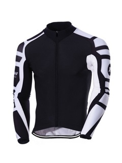 Polyester Long-Sleeve Men's Cycling Jacket