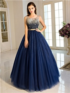 Straps Sash Beading Ball Gown Quinceanera Dress