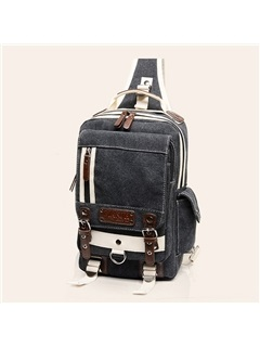 Korean Pin Buckle Decor Chest Pack