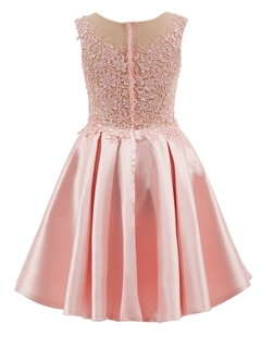 Sheer Neck Cap Sleeves Appliques Short Homecoming Dress