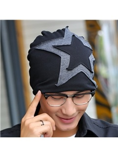 Five-Pointed Star Pasted Cloth Men's Hat