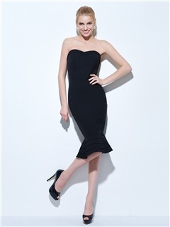 Cool Sweetheart Mermaid Little Black Dress