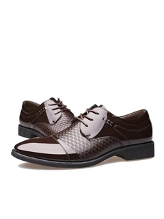 Breathable PU Lace-Up Men's Dress Shoes