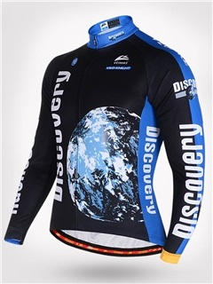Snug-fitting Fleece Keep Warm Breathable Long Sleeve Cycling Jersry