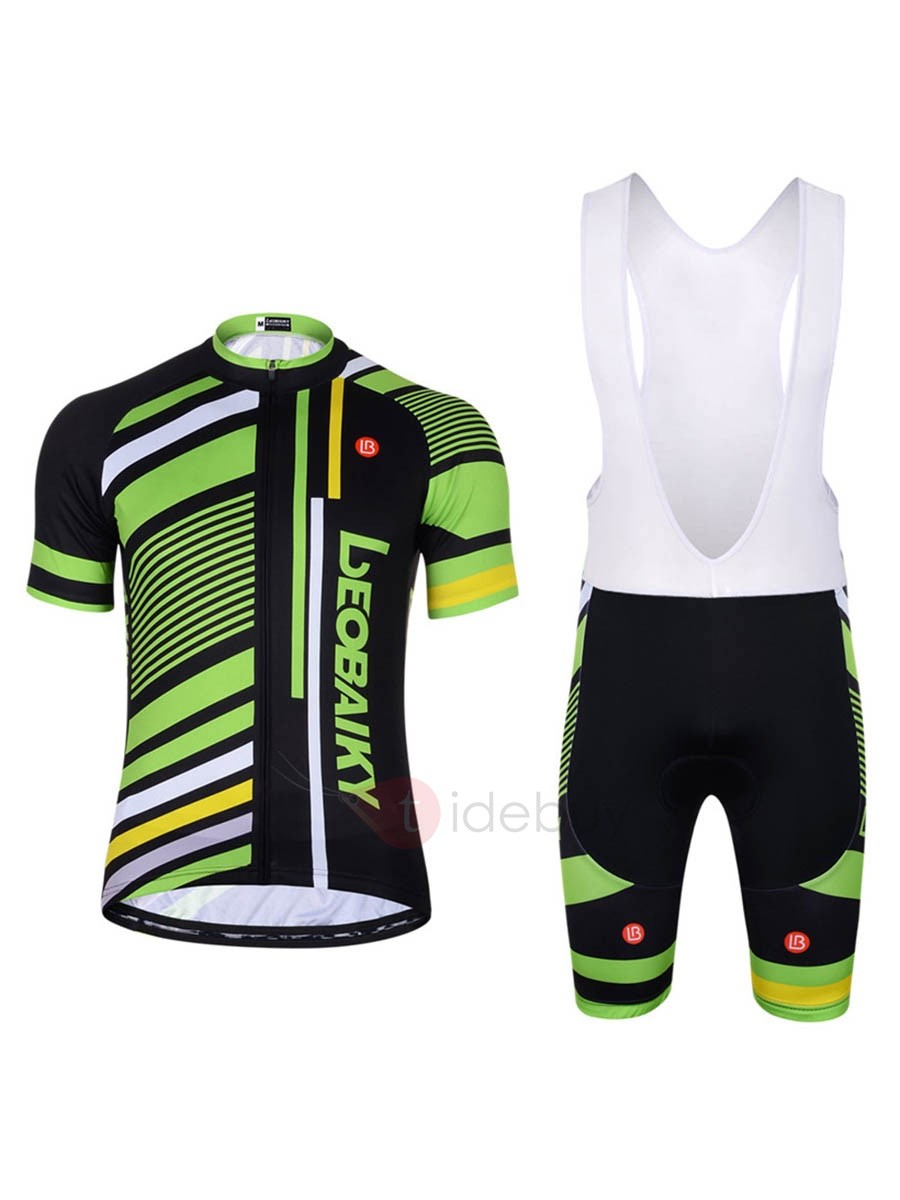 Snug-fitting Breathable Quick Drying Short Bike Jersey And Bib Tights