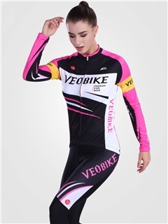 3D Silicon Padded Long Sleeve Women Cycling Suit