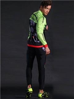 Breathable Fast Drying Long Sleeve Men Cycling Suit