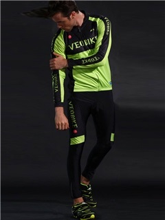 Lycra Ventilate Fast Drying Long Sleeve Reactive Men Cycling Suit