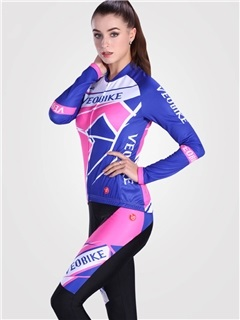 Lycra Fast Drying High Density Long Sleeve Women Cycling Suit