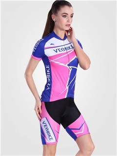 Lycra Breathable Short Sleeve Women Cycling Outfit