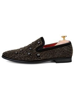 Studded & Rivets Square Heel Men's Dress Shoes