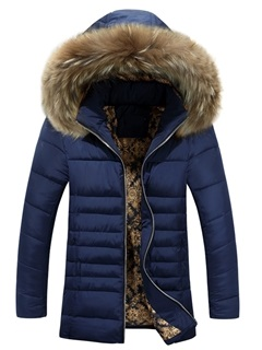Zipper Hooded Causal Men's Thicken Down Jacket