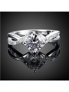 Round Diamante Women Ring