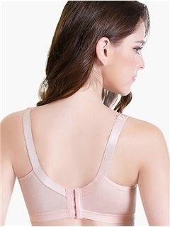 Pure Color Lace-Trim Wireless Nursing Bra