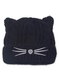 Sweet Cat Shaped Knit Kid's Hat