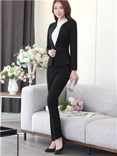Formal Lapel Shirt Pants Suit