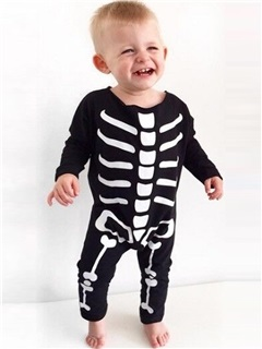 Vogue Skeleton Designed Baby's Halloween Costume