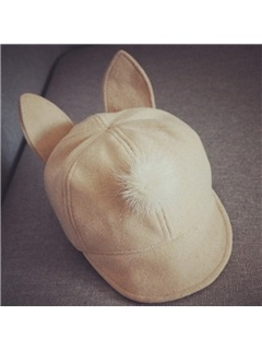 Solid Color Wool Blends Kid's Baseball Cap