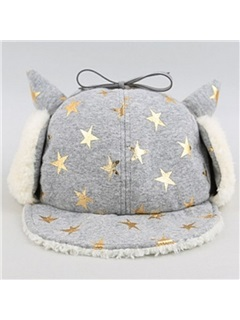 Stars Decorated Bomber Hat for Kid