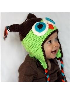Braided Design Hand Knitted Hat for Kid