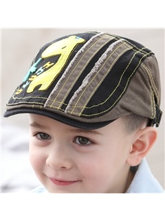 Vogue Giraffe Applique Kid's Peaked Hat