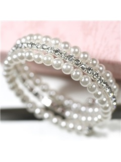 Double Layes Full Pearls Bracelet