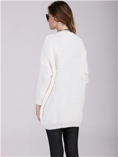 Elegant V-Neck Comfort Maternity Sweater