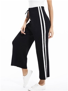 Wide Legs Side Striped Pants