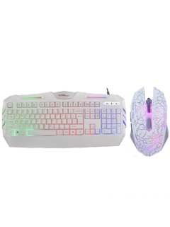 Warwolf Colorful Light Mechanical Keyboard Mouse Combos