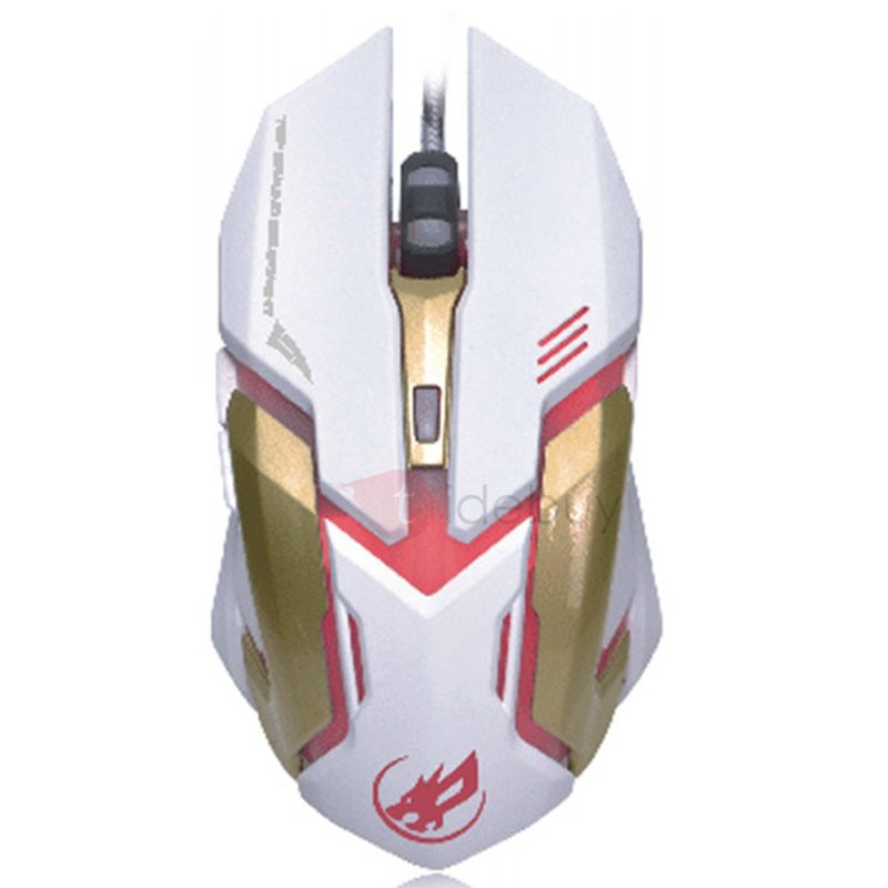 Warwolf T1 Brand USB Wired Mouse 6D Illuminant Mouse