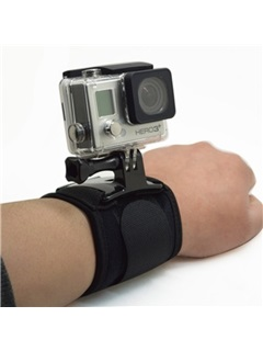 Glove Wrist Band 360 Degree Swivel Rotation Hand Strap Belt Tripod Mount for GoPro