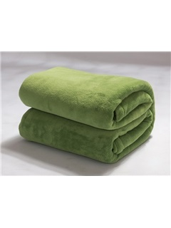 Flesh And Beauty Green Thick Flannel Sheet