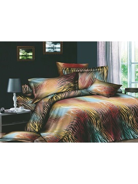 Enthusiastic Pattern Active Printed 4 Piece Cotton Bedding Sets