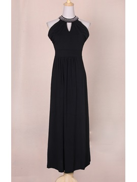 Modern Simple Luxury Euramerican Ol Style V Neckline Long Sexy Dress