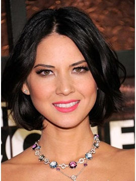 Enchanting Glamorous Short Loose Straight Lace Wig 100 Human Hair About 8 Inches