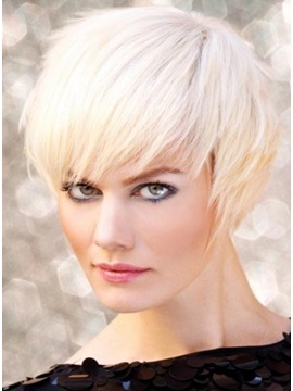 Carefree Short Layered Hairstyle Straight Wig 7inches