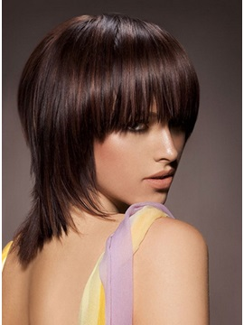 Smart Glamorous Straight Wig 100 Remy Human Hair About 12 Inches