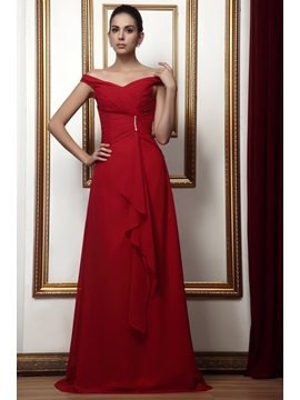 Sexy Off The Shoulder V Neck A Line Floor Length Talines Mother Of The Bride Dress