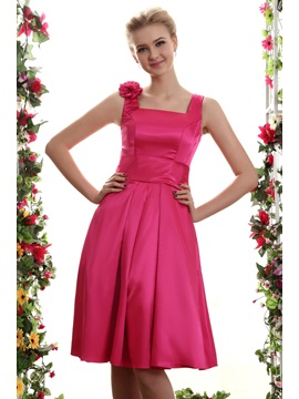 Square Neckline Mini Yanas Bridesmaid Dress