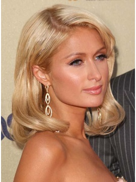 Wavy Paris Hairstyle Human Hair Lace Front Wig About 16 Inches